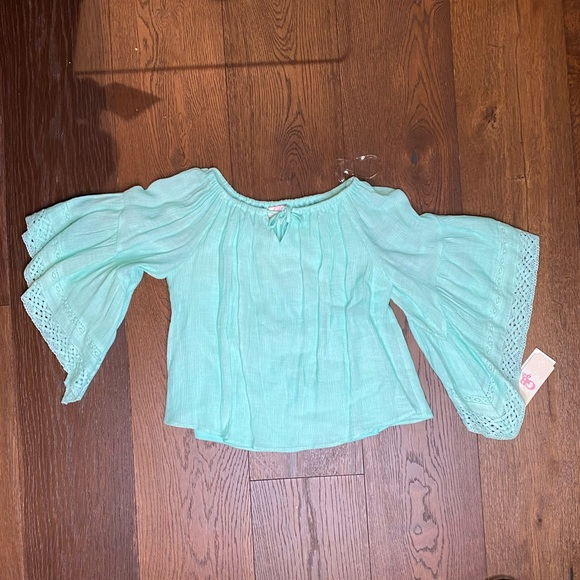 GB girls Other - Girl's blue off the shoulder top
